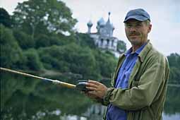 Fisherman in Vologda